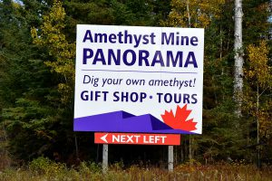 Amethyst Mine Panorama Sign