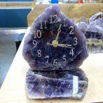 Amethyst Clock handcrafted Thunder Bay Canada